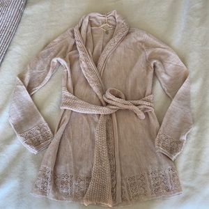 Anthropologie Knitted & Knotted Wrap Cardigan S